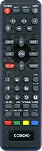 Пульт для D-Color DC802HD