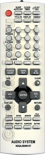 Пульт для Panasonic N2QAJB000137