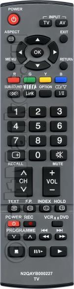 Пульт для Panasonic N2QAYB000227
