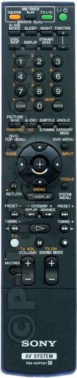 Пульт Sony RM-ADP021 (оригинал)